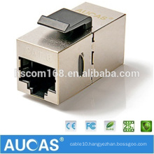 cat6 FTP RJ45 modular adapter 180 degree jack plug / cat5e shielded one-way keystone module