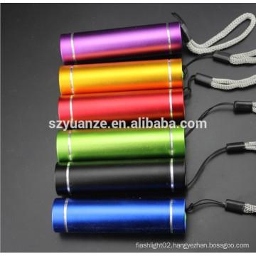 Hand-held colourful gift LED Flashlight