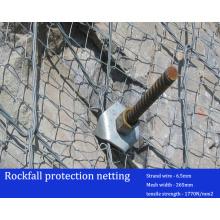 Protección de la estabilización de la roca malla / red