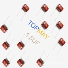 Etopmay 18yrs Experiencia rica en condensador de película de poliéster metalizado Mkt-Cl21 1.5UF 10% 25