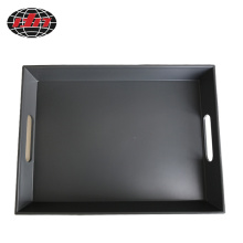 Rectangular Dark Grey Plastic Tray