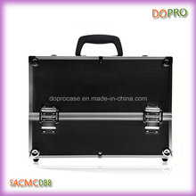 Черная поверхность ABS Чехол красоты большой Профессиональный косметический чемодан (SACMC088)