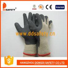 Heißer verkaufender Baumwollhandschuh-überzogener schwarzer Schaum-Latex Dkl419