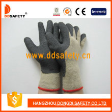 Hot Selling Cotton Gloves Coated Black Foam Latex Dkl419
