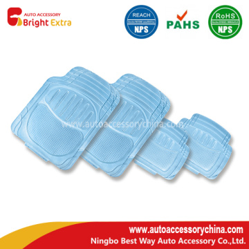 Vinyl 4 Pcs tapete para coche Mat Set Clear