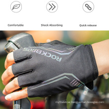 Made in China SBR Damping Palm Pad Breathable Mountain Bike Mountain Bike Riding Gloves Half Finger Gloves