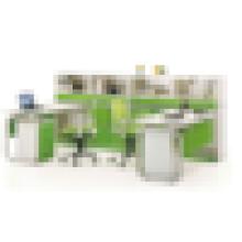 2015 новый дизайн 2-х местный рабочий стол компьютерный раздел для офиса