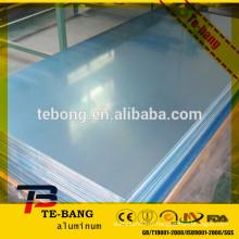 Application de fermetures peintes colorées épaisseur standard en tôle d'aluminium