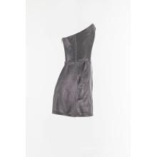 Camisola de nylon brilhante com calça curta