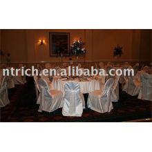Tampas da cadeira, tampas da cadeira do cetim, capas de cadeira hotel/banquete, cadeira sashes