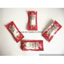 Máquina de enchimento e de embalagem da pasta da máquina da selagem do saquinho da ketchup 10g
