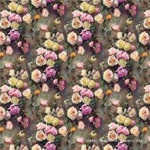 100% Digital Print Silk Fabric for Womens Dress (SZ-0107)