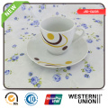 Porcelain 200cc Cup and Saucer in Round Shape