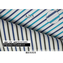 Turquesa/Navy listras macio fio tingido tela da camisa
