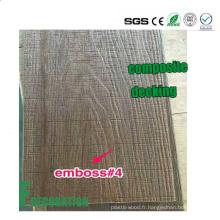 Plancher en bois composite en bois de WPC de Co-Extrusion de grain en bois extérieur Decking