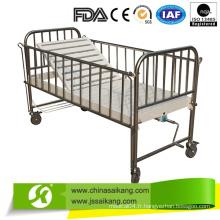 Lit de bébé d'hôpital d'acier inoxydable