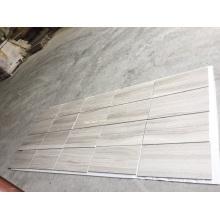 azulejo de madera de mármol blanco