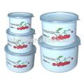 high ice bowl with PE lids & coating enamel enamel mugs sets
