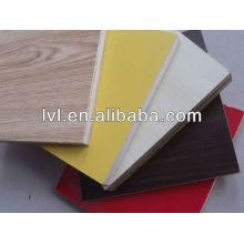 Placa de compensado de melamina colorida para móveis