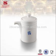 Acessórios de mesa de alta qualidade, vaso de cerâmica branca gravy