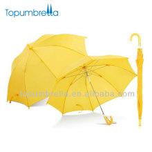 Guarda-chuva pequeno reto amarelo de 19 polegadas 8k para crianças