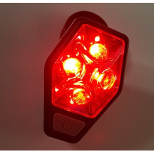 Luz de bicicleta traseira Red Led Safety