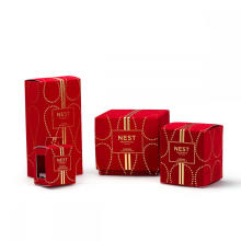 Gift Candle Box With Lid In Velvet Fabric