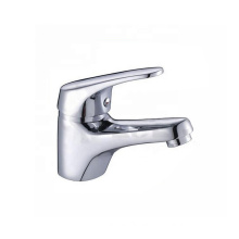 Hot and cold water zinc bathroom mixer tap brass body chrome plating basin faucet