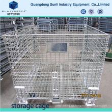 Galvanizar jaula de almacenamiento de malla soldada plegable