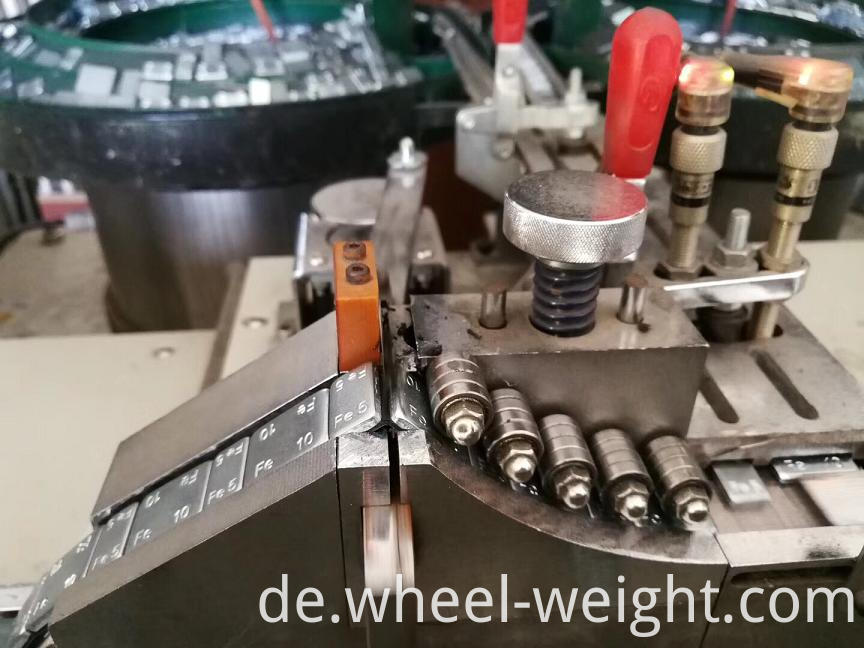 Fe adhesive weight production