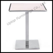 Mesas de restaurante de madeira quadradas topo de aço de aço (SP-RT123)