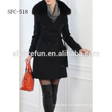 Muchos fabricantes de fashional Pure cashmere overcoat de China