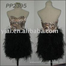 2011 vestido de partido corto vendedor caliente 2011 PP2395 de la pluma de la alta calidad libre del envío