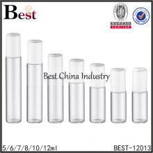 5/6/7/8/10/12ml roll on deodorant packaging with plastic cap,glass roll-on bottle with cap, amber tube glass bottle supplier