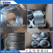 7 fios torcidos de alta resistência de alta resistência multistrand galvanizado fio