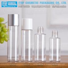 TB-AL série 100ml 120ml 135ml 150ml classe alta atraente cor personalizável nivelada tampa redonda garrafa pet cosmética