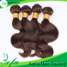 Extensão não processada do cabelo humano de 100% / trama do cabelo Virgin de Remy
