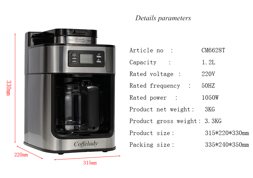 Programmalbe Grind and Brew Automatic Coffee Maker