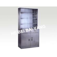 (C-6) Gabinete de medicina de acero inoxidable con cajones