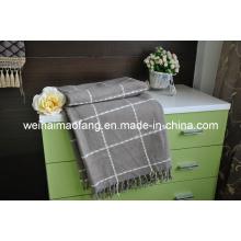 Gewebte 50 % Merino Wolle /50%Viscose Woolen werfen (NMQ-WT040)