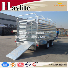 heavy duty galvanized tandem livestock trailer