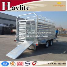 heavy duty galvanized tandem livestock trailer