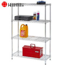 4 Tiers NSF Home Steel Chrome Wire Shelving Rack (LD9035150A4C)