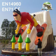 Commercial Inflatable Slide Skiing Man