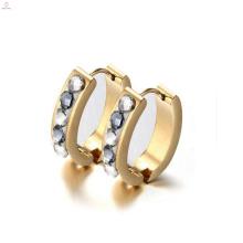 Kleine Creolen Kristall Ohrstecker, Gold Creolen Diamantohrringe