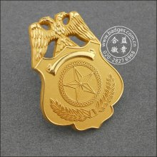 Ouro chapeado emblema militar Emblema de segurança personalizado (GZHY-BADGE-086)