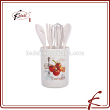 Ceramic utensil holder for kitchen