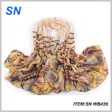 2015 Hot Sale New Products Voile Fabric Scarf