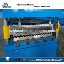 Corrugated Stainless Steel Roll Forming Production Line / Corrugated Anticorrosion Steel Roofing Plate Roll Forming Machine