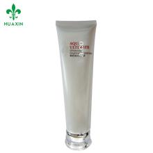Tubo crema plástica suave del masaje del tubo suave plástico de los cosméticos de la crema del tubo del expreso blanco